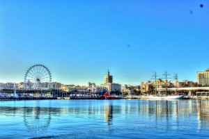 Travel in Málaga - The view of Malaga from the harbour is terrific