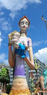Fallas in Valencia - A lot of ninots are made by a lot of people.