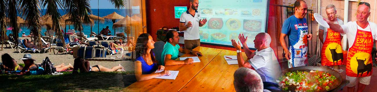 Spanish courses for seniors (50 plus) in Malaga, Full immersion language courses specifically designed for Senior Students,Spanish Courses for seniors 50 plus and 60 plus in Spain